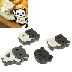 4pcs Panda Cookie Mold Biscuit Mold