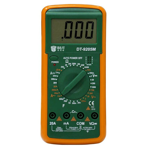 BEST Digital Multimeter with Buzzer, DT-9205M