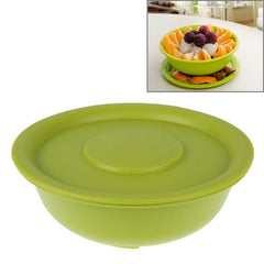 Fashion Fruit Bowl with Cover(Green)