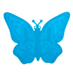 Butterfly Pattern Heat-resistant Anti-skidding Silicone Heat Insulation Mat(Blue)