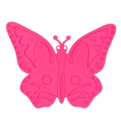 Butterfly Pattern Heat-resistant Anti-skidding Silicone Heat Insulation Mat(Magenta)