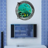 3D Underwater World Personality Creative Waterproof Wall Stickers Size: 45cm x 45cm
