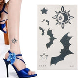 Beautiful Bat & Stars Pattern Temporary Tattoo Stick