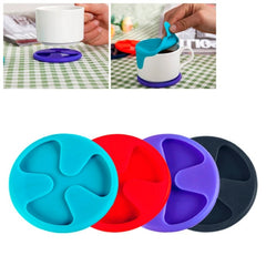 Anti-slip Silicone Red Wine & Tea & Coffee Cup Mat / Cup Lid Random Color Delivery