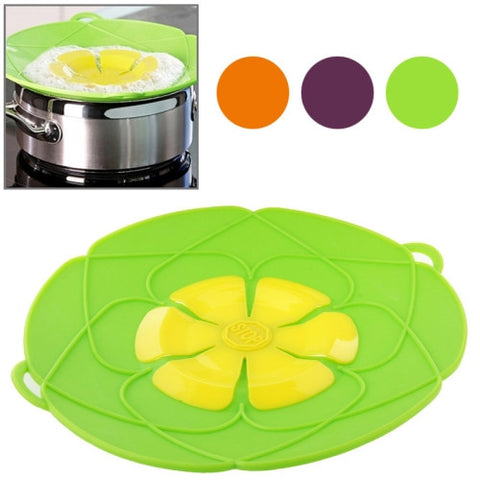 New Spill-Proof Anti-Flutter and Heat-Resistant Silicone Pot Cover (Ramdom Color Delivery)