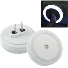 LED Light Control High Brightness Bedside Night Light with Socket (White)