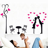 DIY Fashion Self Adhesive PVC Removable Wall Stickers / House Interior Decoration Pictures -- Lover Size: 70cm x 50cm