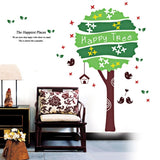 DIY Fashion Self Adhesive PVC Removable Wall Stickers / House Interior Decoration Pictures -- Happy Tree Size: 70cm x 50cm