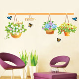 DIY Fashion Self Adhesive PVC Removable Wall Stickers / House Interior Decoration Pictures -- Flower Size: 70cm x 50cm