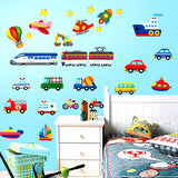 DIY Fashion Self Adhesive PVC Removable Wall Stickers / House Interior Decoration Pictures --3D Cartoon Transport Size : 70cm x 50cm