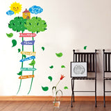 DIY Fashion Self Adhesive PVC Removable Wall Stickers / House Interior Decoration Pictures -- Measuring Height Ladder Size: 70cm x 50cm