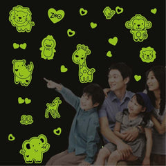 DIY Wall Stickers Decals Glow in Dark Stickers Fluorescent Luminous for Room - Animal Pattern