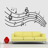 DIY Fashion Self Adhesive PVC Removable Wall Stickers / House Interior Decoration Pictures -- Music Size: 90cm x 60cm