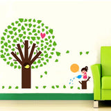 DIY Fashion Self Adhesive PVC Removable Wall Stickers / House Interior Decoration Pictures -- Girl & Trees Size: 90cm x 60cm