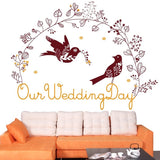 DIY Fashion Self Adhesive PVC Removable Wall Stickers / House Interior Decoration Pictures -- Our Wedding Day Size: 90cm x 60cm