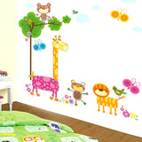 DIY Fashion Self Adhesive PVC Removable Wall Stickers / House Interior Decoration Pictures -- Cartoon Animal World Size: 90cm x 60cm