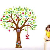 DIY Fashion Self Adhesive PVC Removable Wall Stickers / House Interior Decoration Pictures -- Cartoon Tree Size: 90cm x 60cm