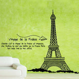 DIY Fashion Self Adhesive PVC Removable Wall Stickers / House Interior Decoration Pictures -- Eiffel Tower Size: 90cm x 60cm