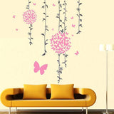 DIY Fashion Self Adhesive PVC Removable Wall Stickers / House Interior Decoration Pictures -- Butterflies Fluttering Size: 90cm x 60cm
