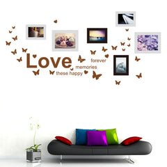 DIY Fashion Self Adhesive PVC Removable Combination Wall Stickers / House Interior Decoration Pictures -- Butterfly Photo Wall Size: 60cm x 90cm