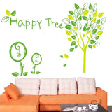 DIY Fashion Self Adhesive PVC Removable Wall Stickers / House Interior Decoration Pictures -- Happy Tree Size: 90cm x 60cm