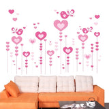 DIY Fashion Self Adhesive PVC Removable Wall Stickers / House Interior Decoration Pictures -- Hearts Size: 90cm x 60cm