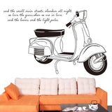 DIY Fashion Self Adhesive PVC Removable Wall Stickers / House Interior Decoration Pictures -- Motorcycle Size: 90cm x 60cm
