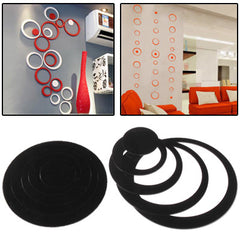 Circle Shaped DIY Adhesive Wall Sticker Decal Wallpaper House Interior Decor(Black)