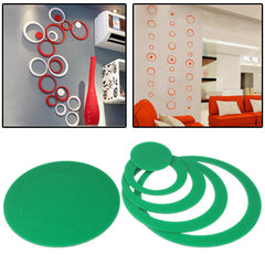 Circle Shaped DIY Adhesive Wall Sticker Decal Wallpaper House Interior Decor(Green)