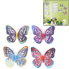 Hollow Out Butterfly Style Wall Sticker Decal Wallpaper House Interior Decor (4pcs in One Packaging The Price is for 4pcs)