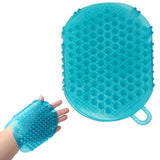 High Quality Two Sided Massage Glove Brush(Blue)
