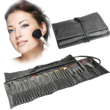 Professional 32pcs Makeup Brush Set Beauty Kit Cosmetic + PU Leather Carrying Case(Black)