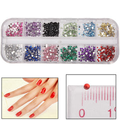 Round Shape Shining Nail Art Decoration DIY Nail Art Decal Sticker Finger / Toe Decorator Beauty Item
