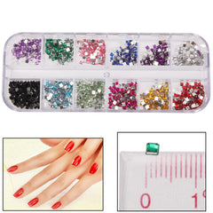 Square Shape Shining Nail Art Decoration DIY Nail Art Decal Sticker Finger / Toe Decorator Beauty Item