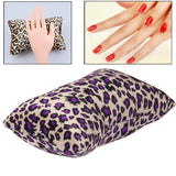 Leopard Print Bones Type Hand Rest Towel Pillow for Nail Art Use Size: 22 x 13 x 6cm