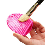 Silicone Cleaning Cosmetic Make Up Washing Brush Cleaner Scrubber Tool(Magenta)