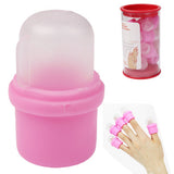 Wearable Nail Soakers Polish Remover Soak Cap Nail Art Tool Set for Acrylic Nail (10pcs in one packaging the price is for 10pcs)(Pink)