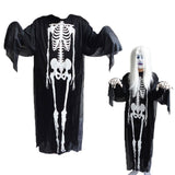 Creative Skeleton Ghost Pattern Polyester Clothes(Black)