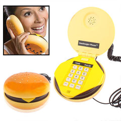Lovely Hamburger Shape Wire Corded Telephone