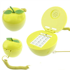 Green Apple Shape Wire Corded Telephone