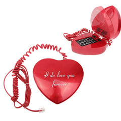 Love Shape Wire Corded Telephone