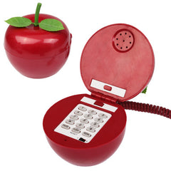 Fashionable Unique Red Apple Style Phone Home-use Wired Telephone