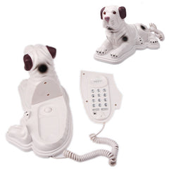 Creative Dog Shaped Telephone Landline Wired Table Telephone for Home Office