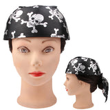 Full Skull Halloween Pirate Bandana Hat / Fancy Dress Costume(Black)