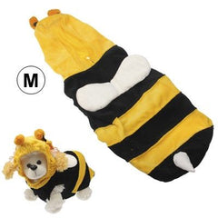 Bee Style Pet Puppy Clothes Dog Doggie Shirt Apparel (Size: M)