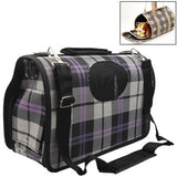 Grid Pattern Travel Totes Dog Carrier Bags Size: 34 x 16 x 23cm