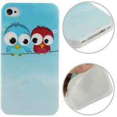 Birds Pattern TPU Case for iPhone 4 & 4S