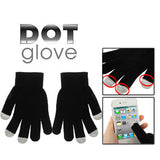 Dot Gloves of Touch Screen for iPhone 5 iPhone 4 & 4S / iPad / iPod Touch BlackBerry HTC and other Touch Screen Mobile Phones(Black)