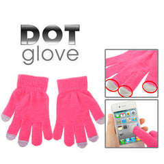 Dot Gloves of Touch Screen for iPhone 5 iPhone 4 & 4S / iPad / iPod Touch BlackBerry HTC and other Touch Screen Mobile Phones(Pink)