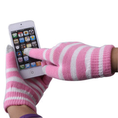 Dot Gloves of Touch Screen for iPhone 5 iPhone 4 & 4S / iPad / iPod touch BlackBerry HTC and other Touch Screen Mobile Phones (Pink + White)(Pink)